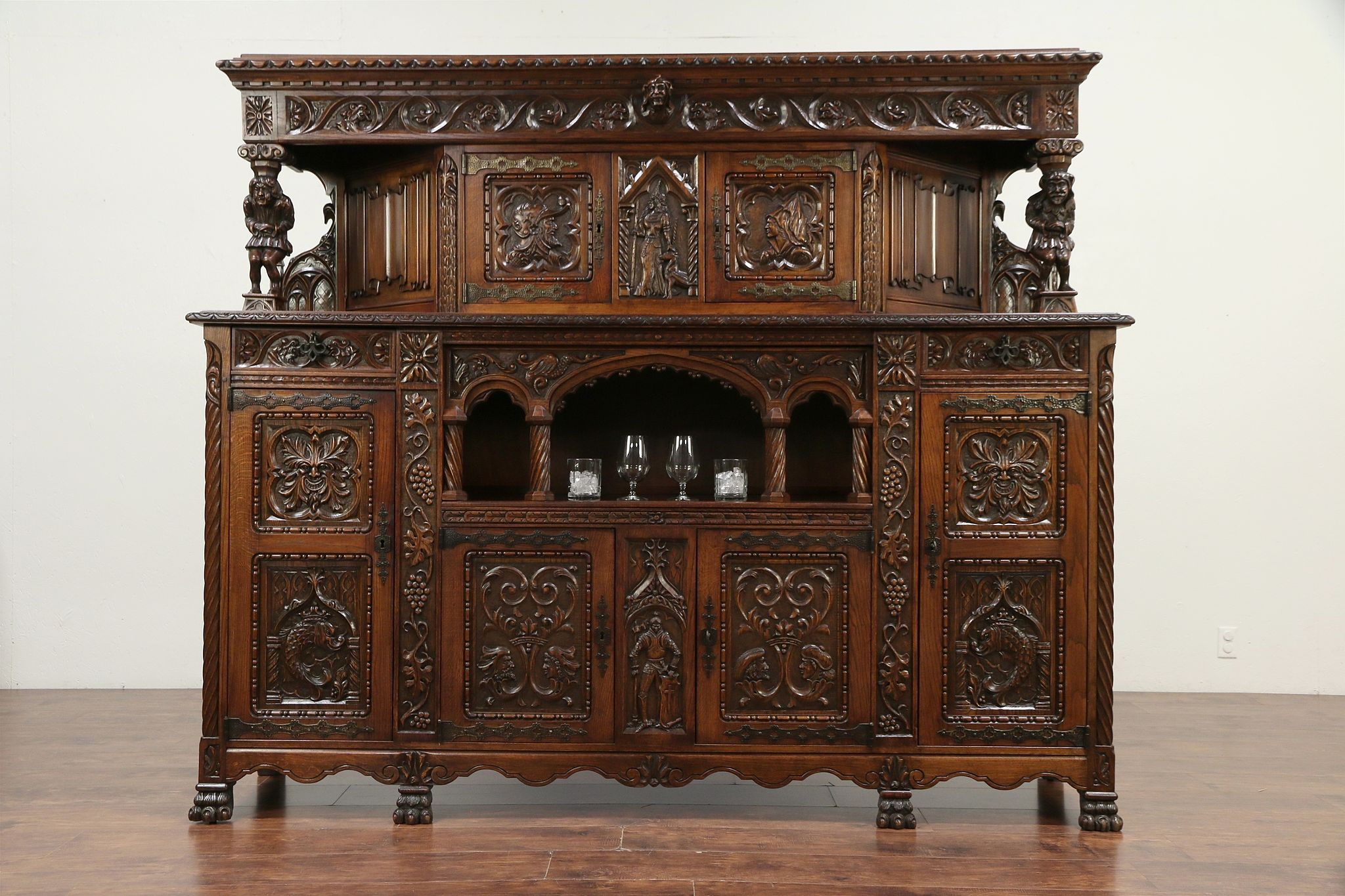 Sold Oak French Antique Wine Cabinet