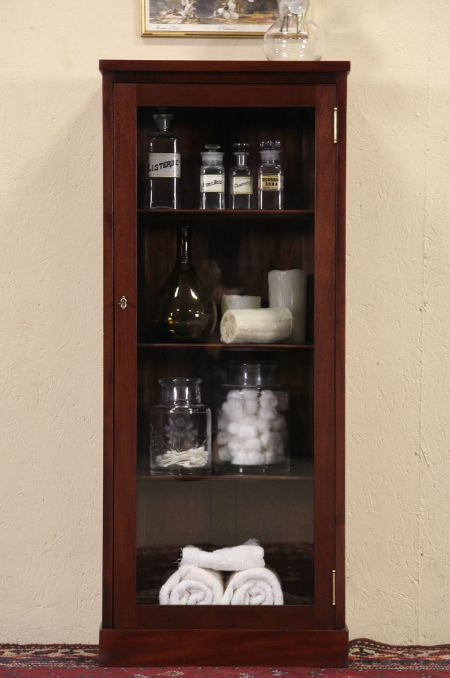 Sold Physician Medical 1910 Antique Doctor Cabinet Wavy