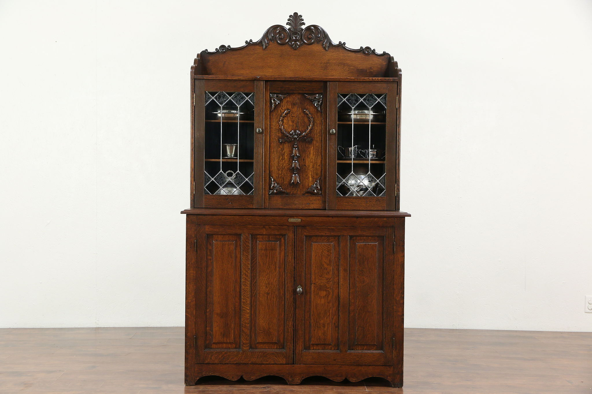buffet glass sideboards hutch buffets antique and with dining doors room door oak