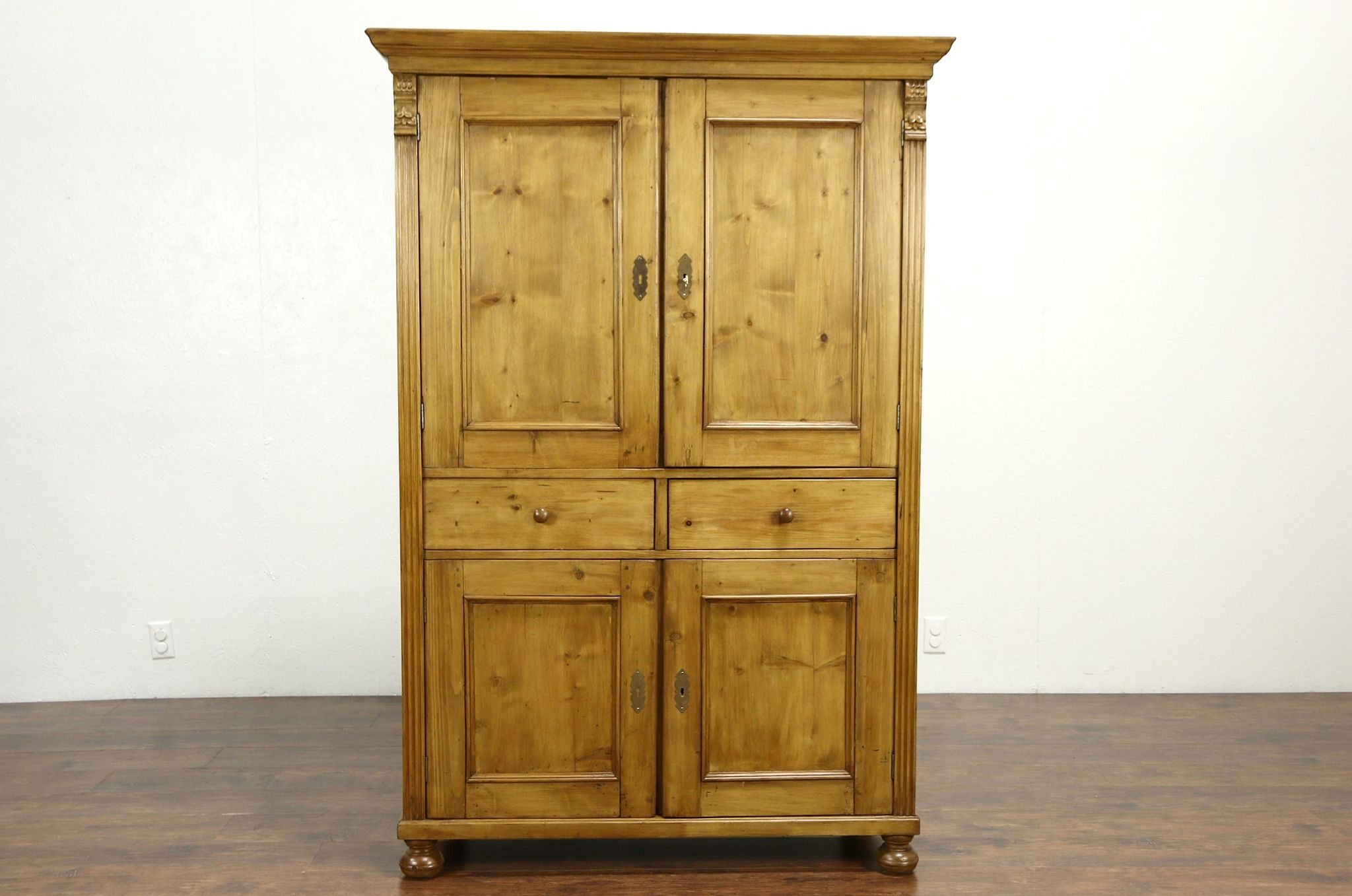 Sold Country Pine Antique Linen Cabinet Pantry Cupboard