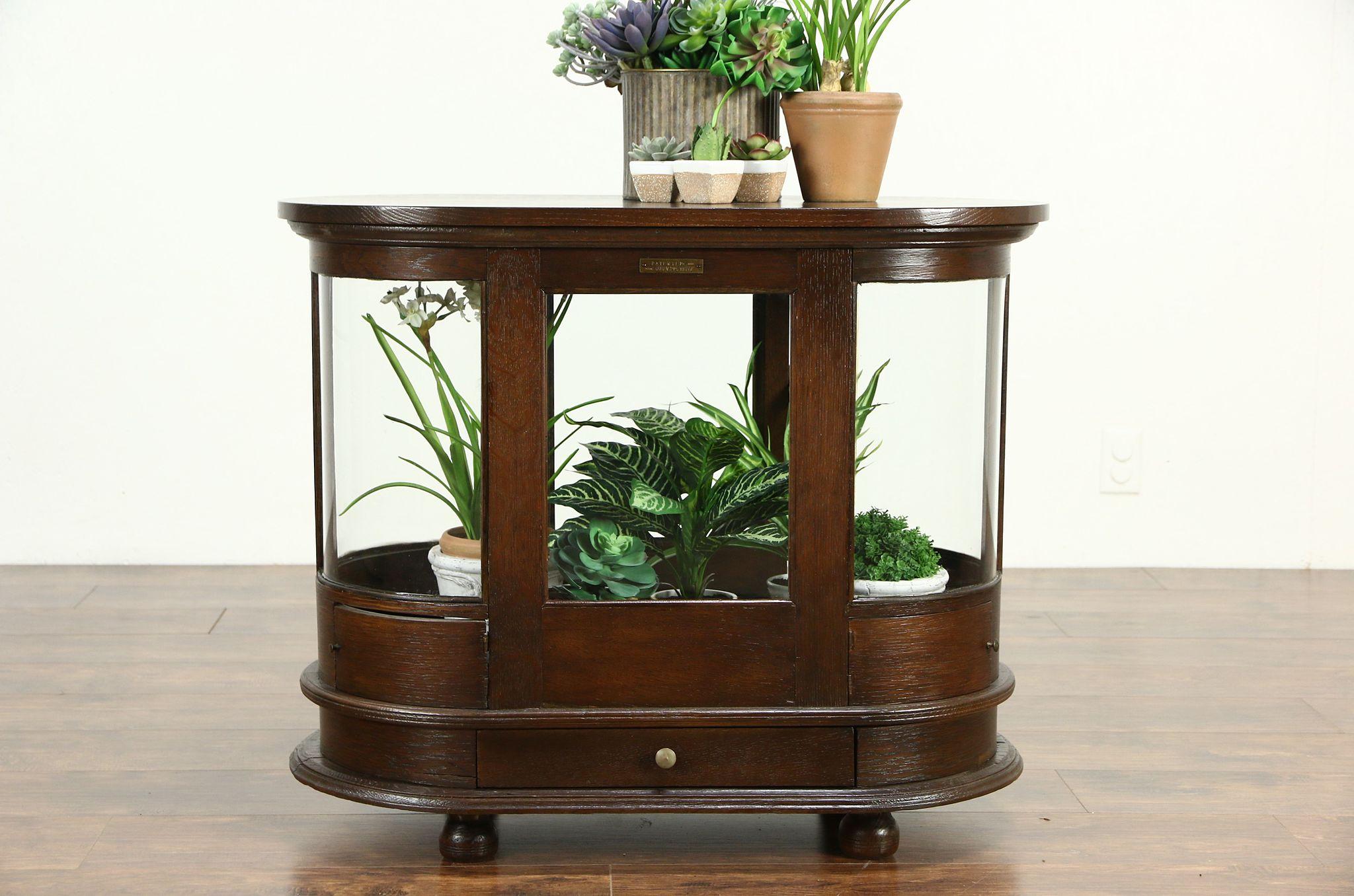 Merrick 1900 Antique Oak Spool Cabinet Converted To Tabletop Showcase ...