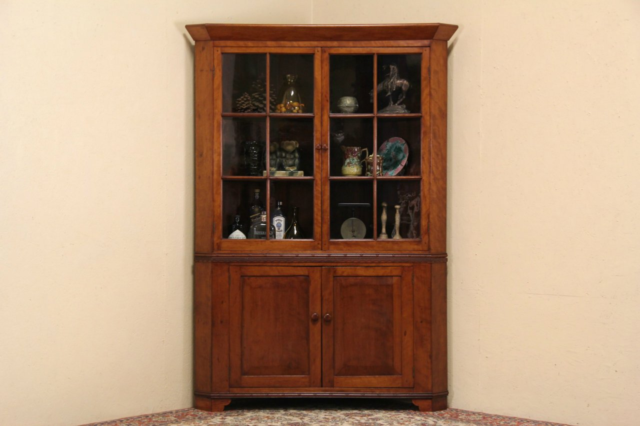 cab12 8 14corn - Quiz: How Much Do You Know about Antique Corner Cabinet Cherry?