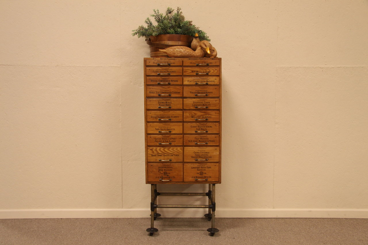 Sold Sekauer 20 Drawer Plumbing Parts Cabinet Harp Gallery