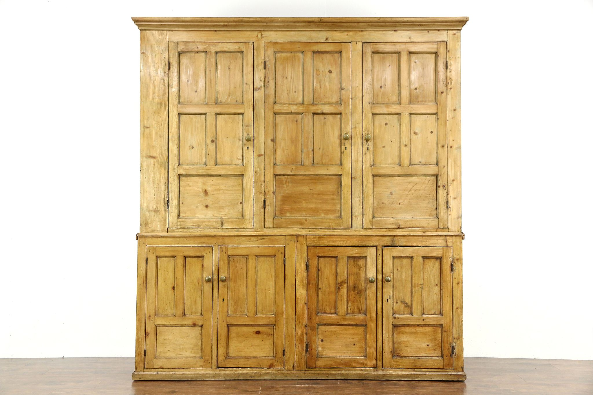 Irish Pine Antique 1850's Country Pine Primitive Cabinet 89