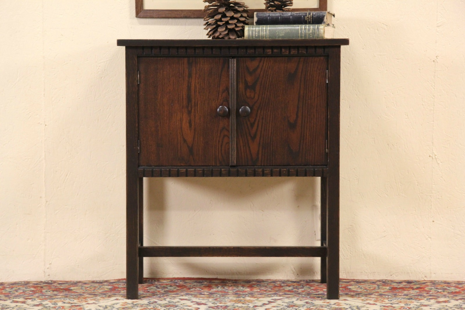 Arts U0026 Crafts Mission Oak 1905 Antique End Table, Hall Console Or Cabinet