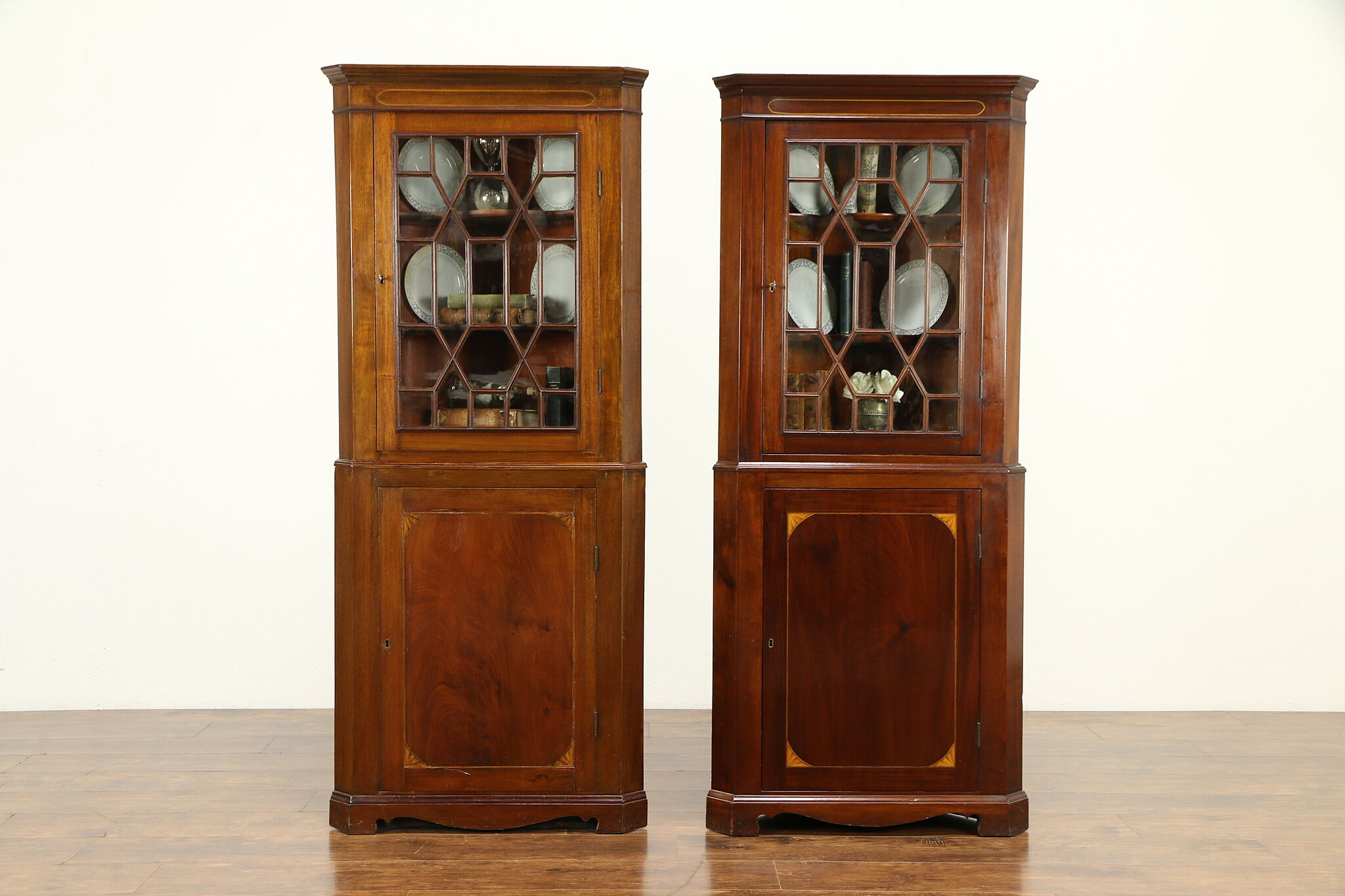 Mahogany Corner Cabinets Or Cupboards