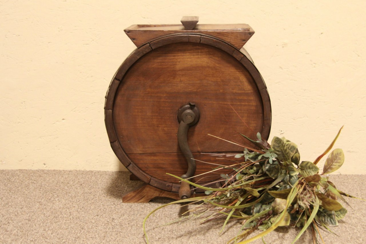 Sold Country Pine Antique 1900 Butter Churn Harp Gallery