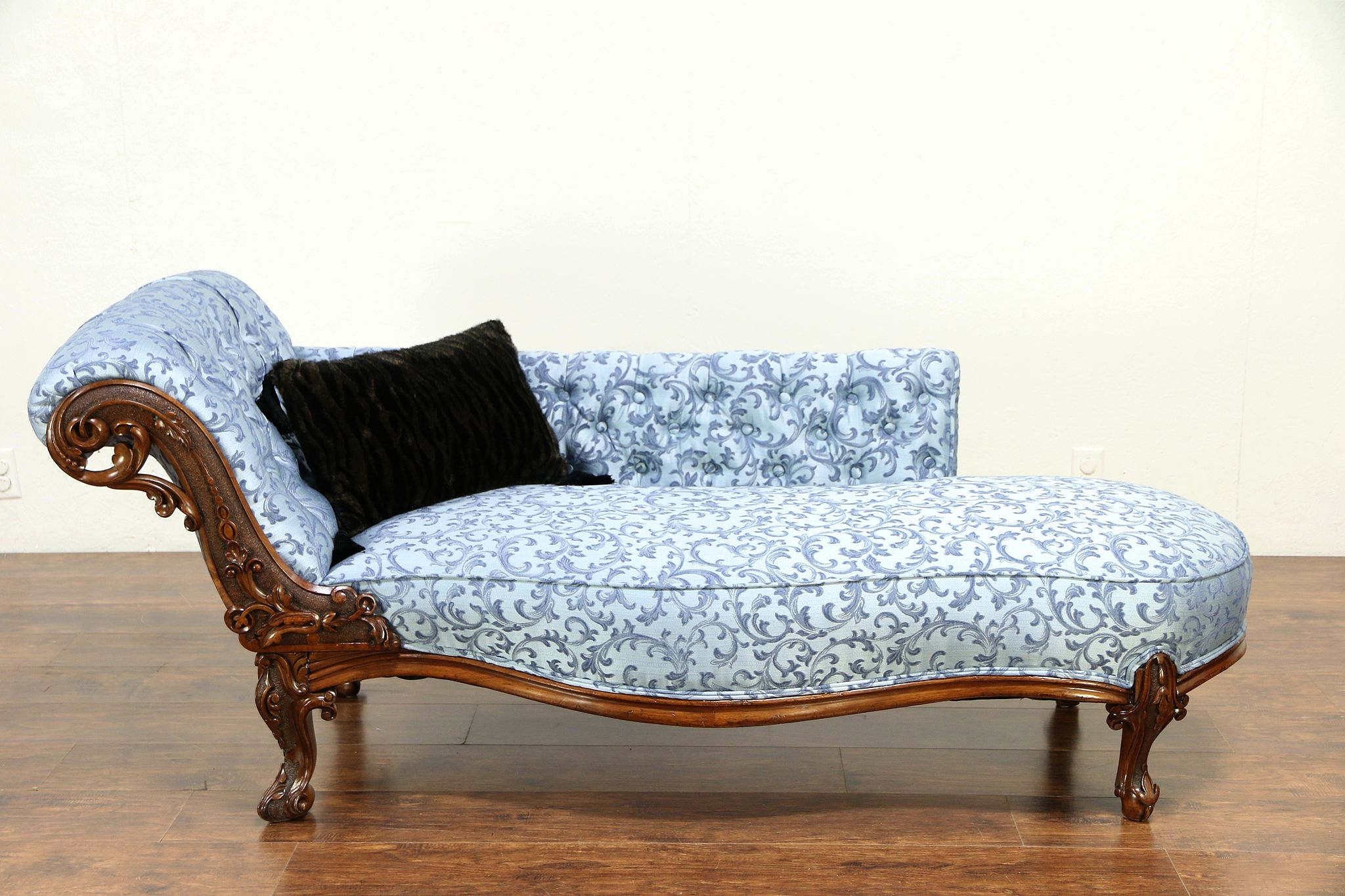 Fabulous Recamier Antique 1870 Chaise Lounge Or Fainting Couch New Upholstery 30149 Unemploymentrelief Wooden Chair Designs For Living Room Unemploymentrelieforg