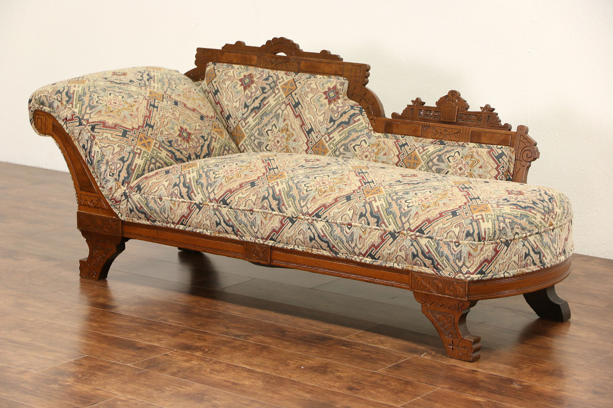 Sold victorian eastlake 1880 antique chaise lounge or for Antiques chaise lounge