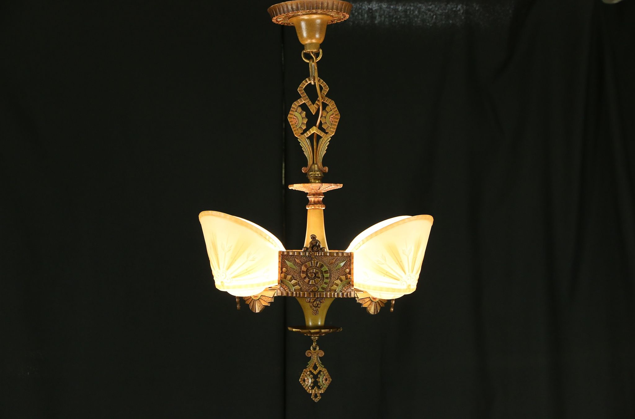 pair bronze american art a classic items ceiling deco lighting light ceilings lights of modernism