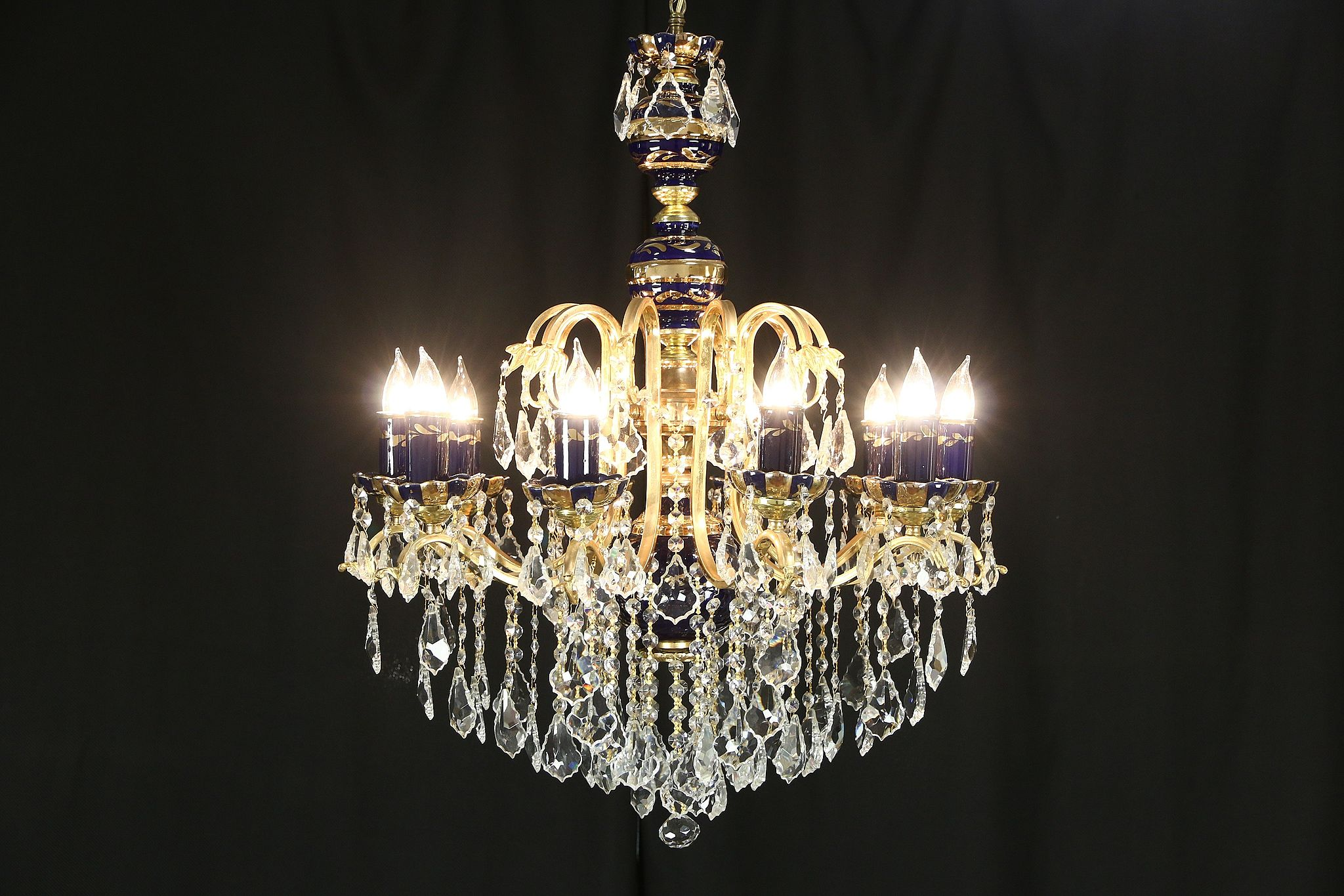 and cut chandelier gasolier crystal antique gilt bohemian images glass