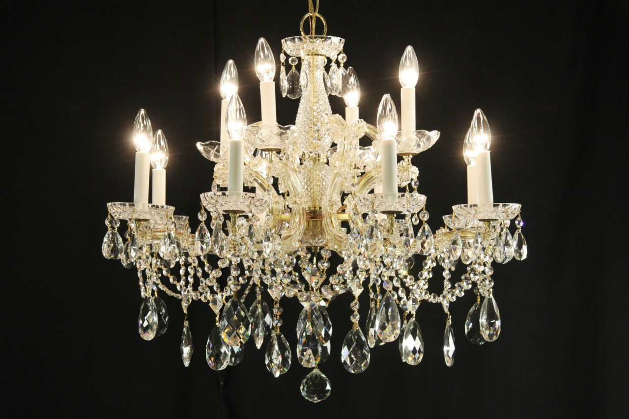 Sold maria theresa 12 candle vintage strass crystal chandelier photo 1 maria theresa arubaitofo Choice Image