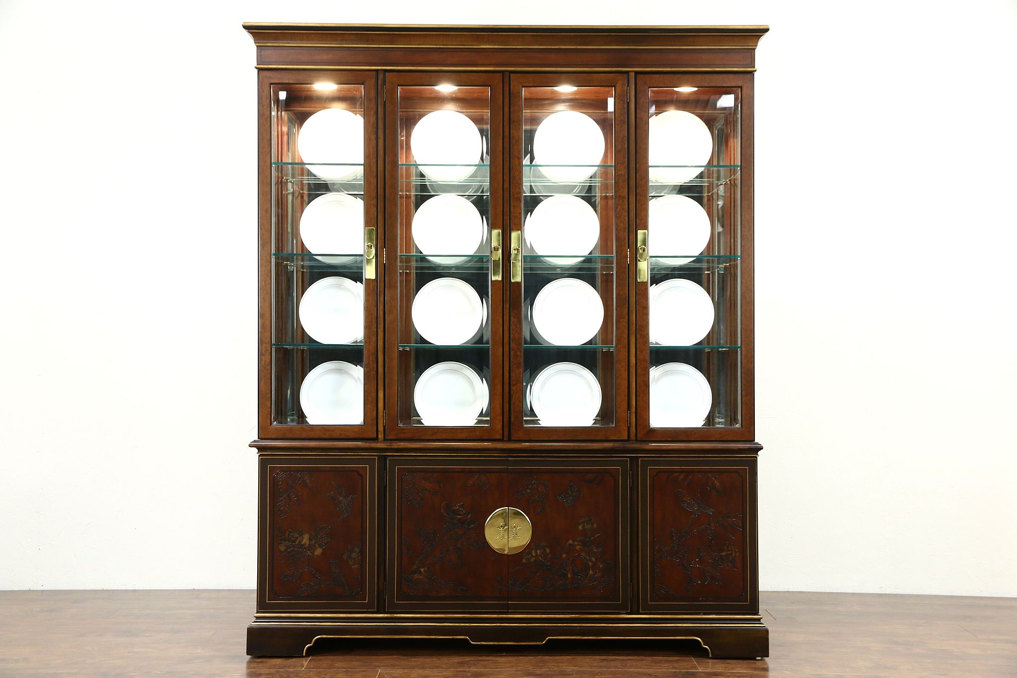 SOLD - Drexel Heritage Connoisseur Chinese Vintage Breakfront ...