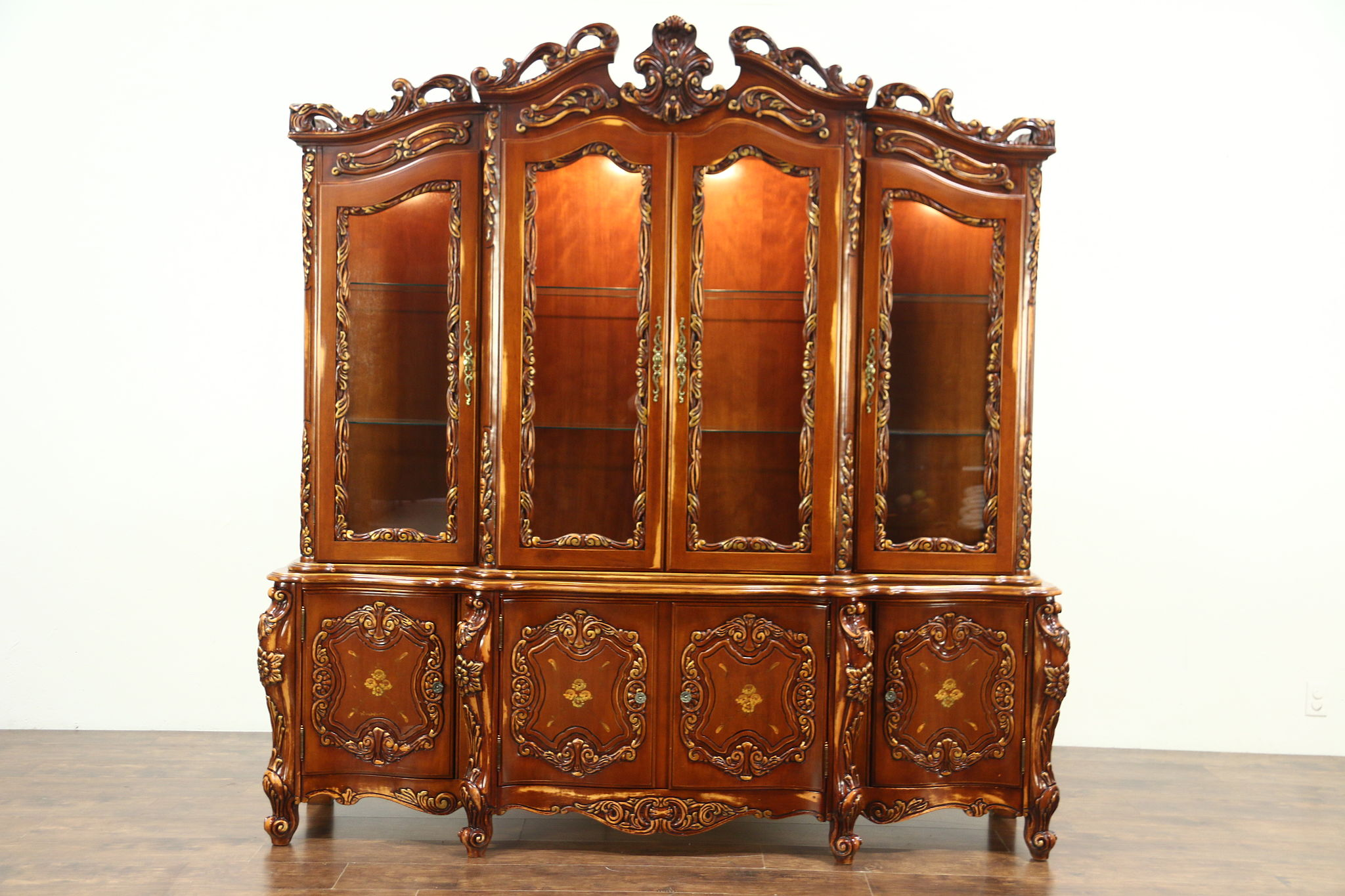 Sold Baroque Carved Cherry Vintage
