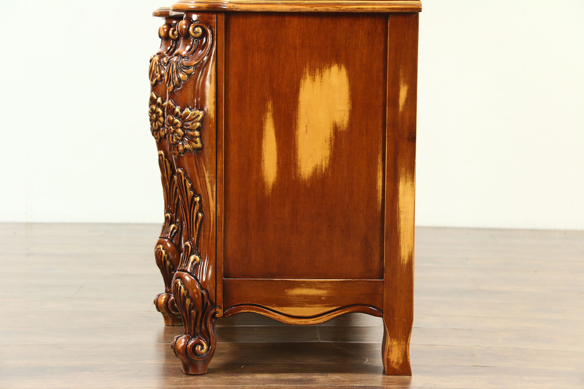 what is the cabinet baroque carved cherry vintage breakfront china cabinet 28303