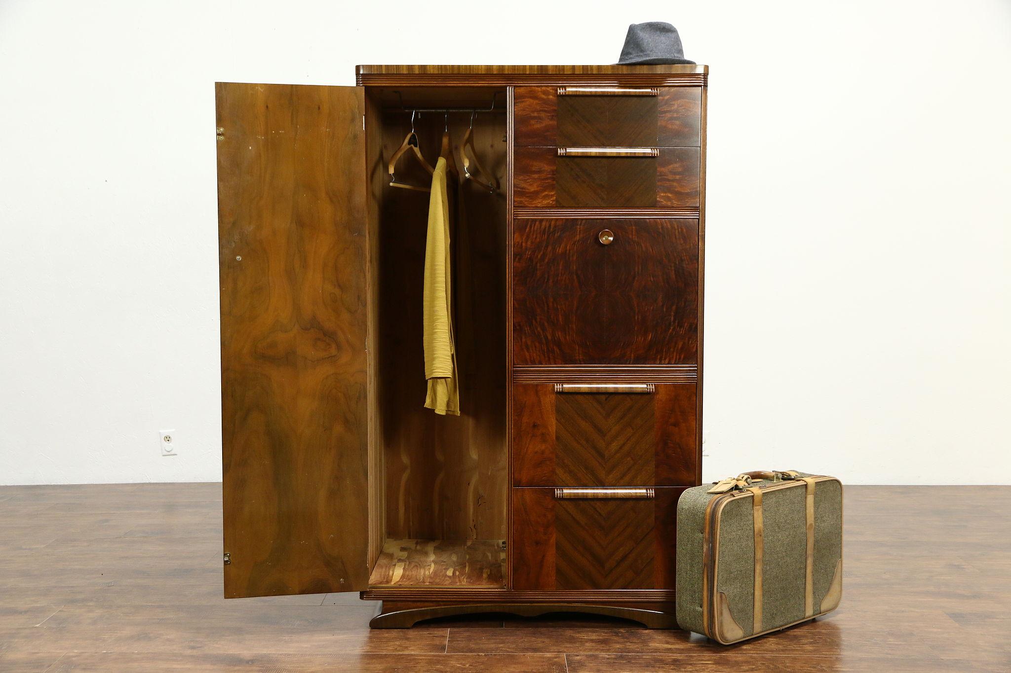 Art Deco 1935 Vintage Armoire, Chifferobe, Wardrobe Or Cedar Closet ...