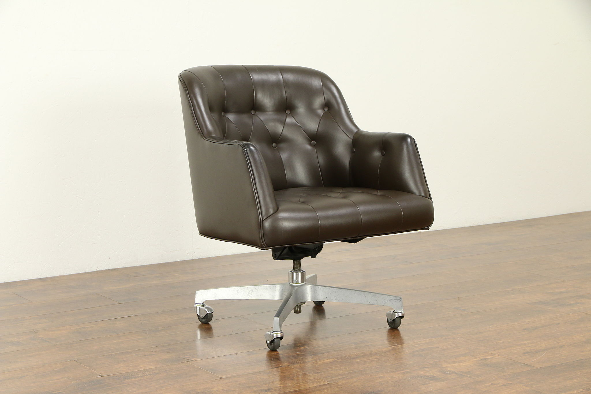 Magnificent Midcentury Modern Vintage Leather Swivel Adjustable Desk Chair Marble 32150 Unemploymentrelief Wooden Chair Designs For Living Room Unemploymentrelieforg