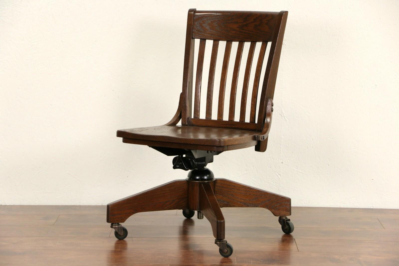 Sold swivel adjustable oak desk vintage library or