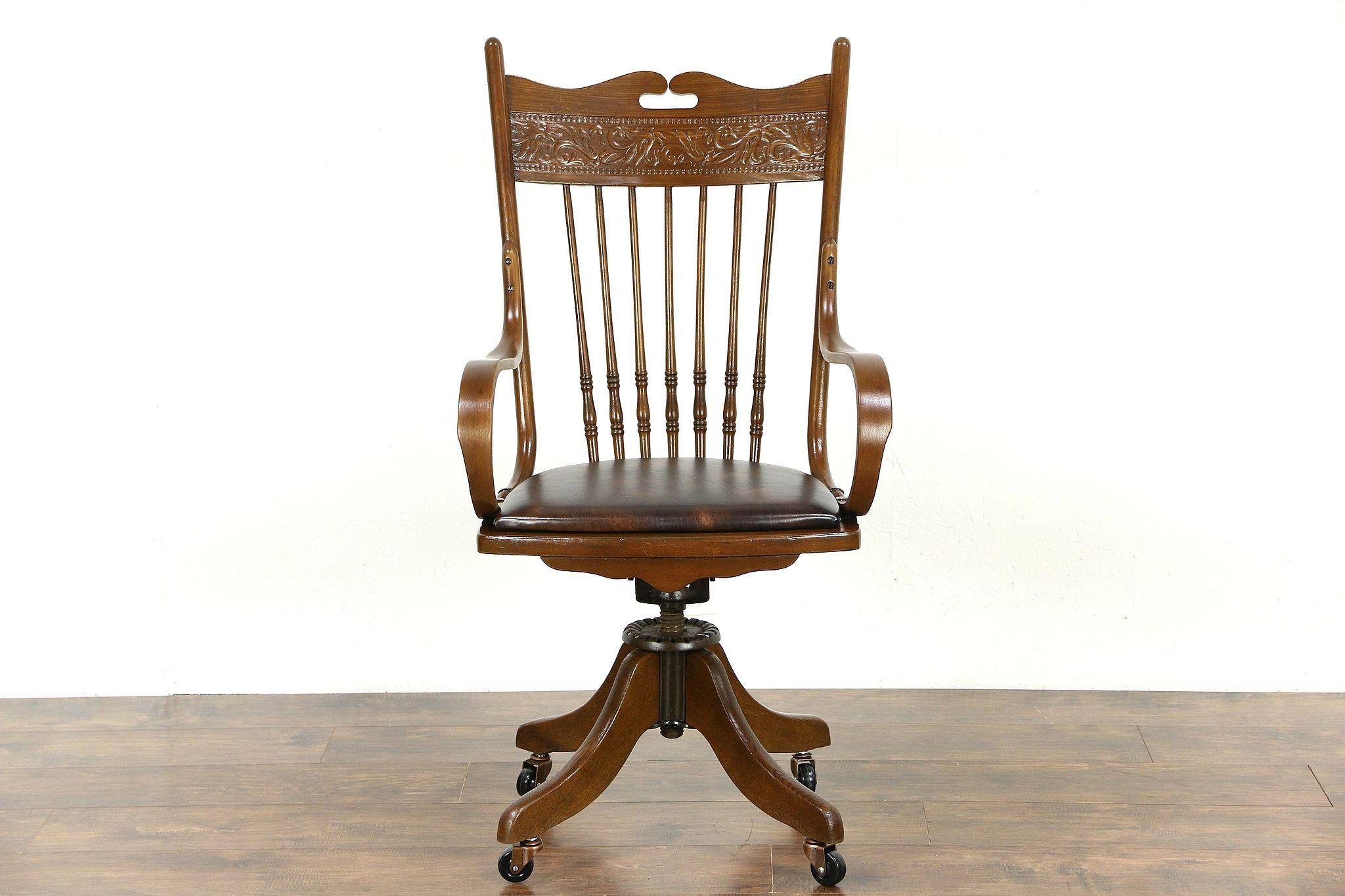 SOLD Victorian Swivel Antique Adjustable 1910 Ash & Oak Desk
