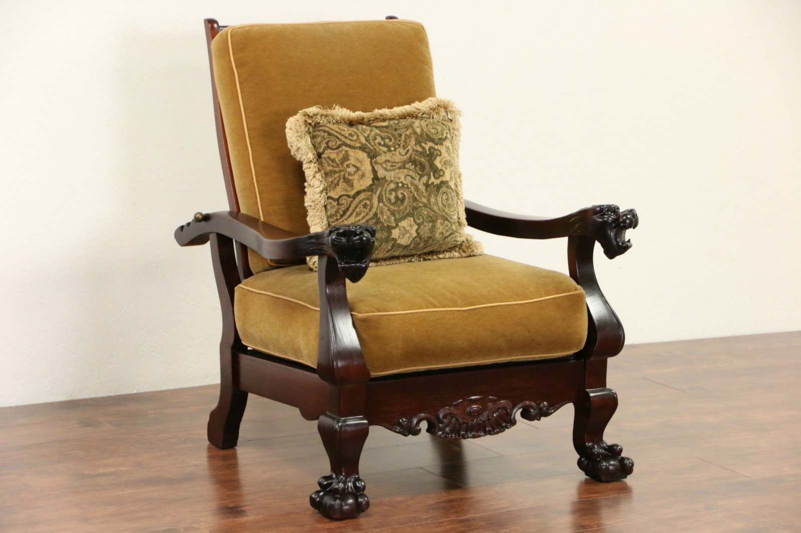 Sold Morris Recliner Chair 1900 Antique Mahogany