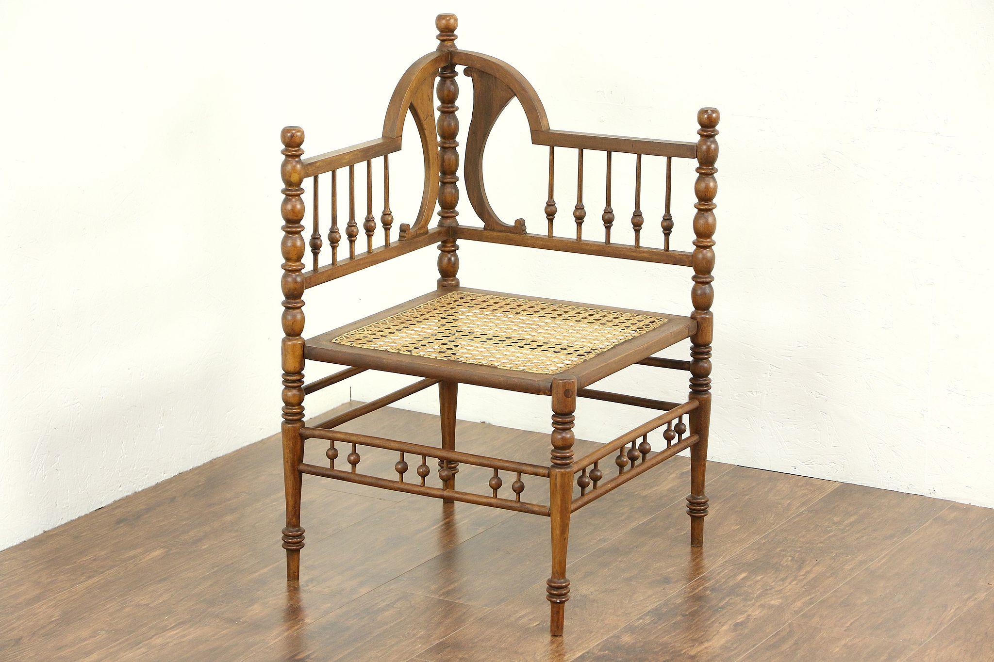 victorian 1890 antique stick ball corner chair 25602 harp gallery