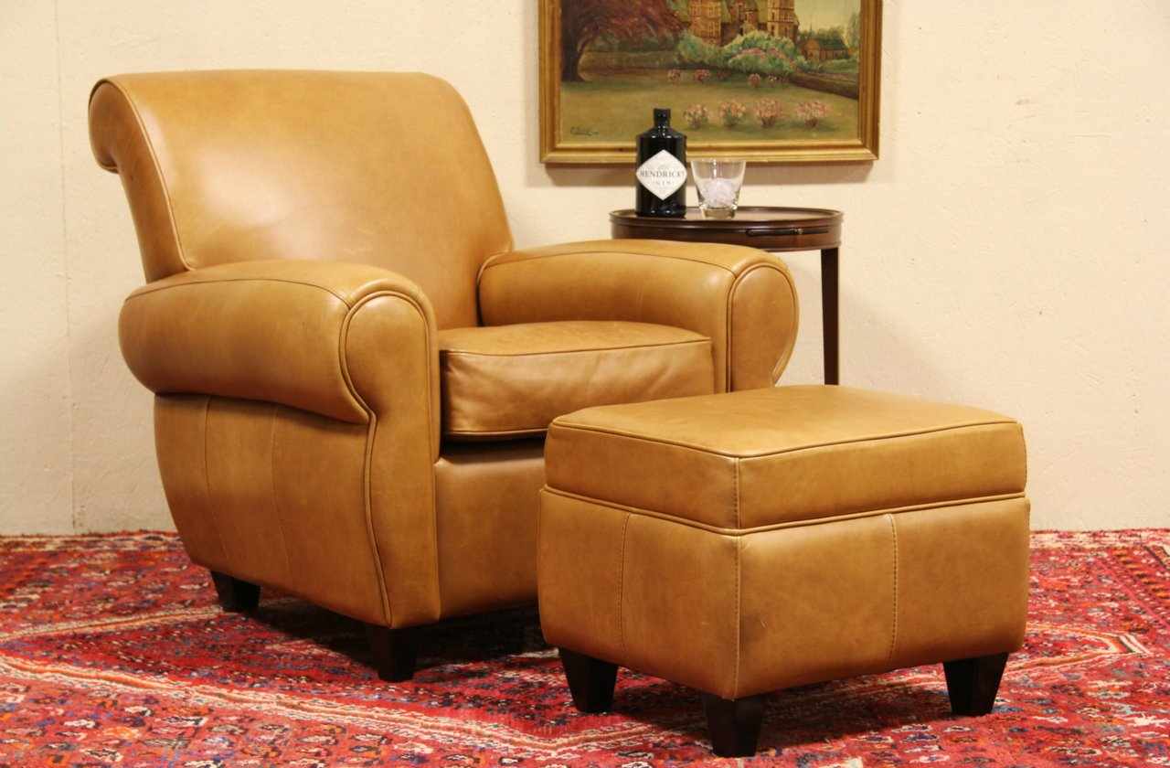 Fantastic Leather Club Chair Ottoman Vintage Set Alphanode Cool Chair Designs And Ideas Alphanodeonline