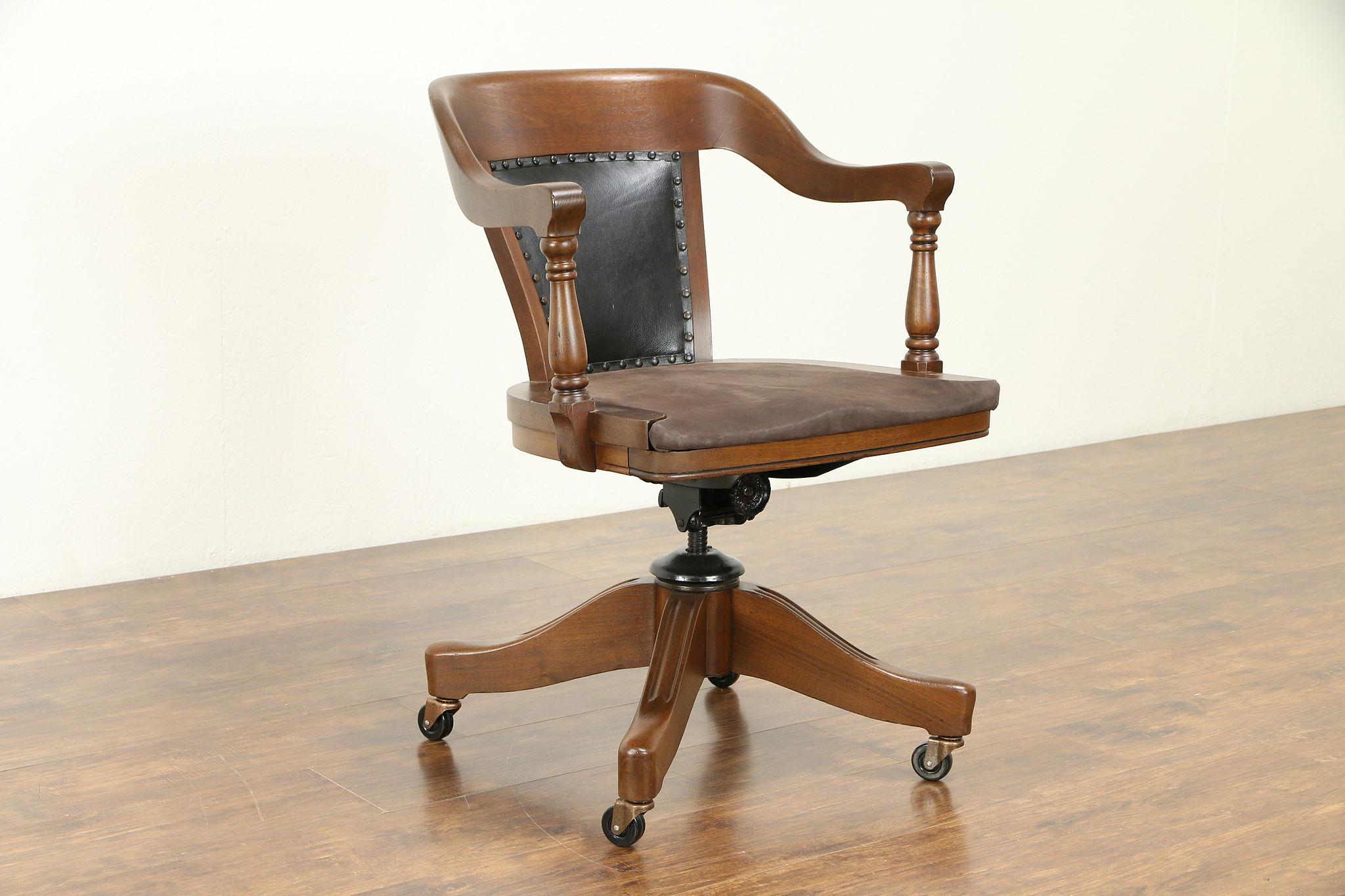 Leather Antique Swivel Adjule