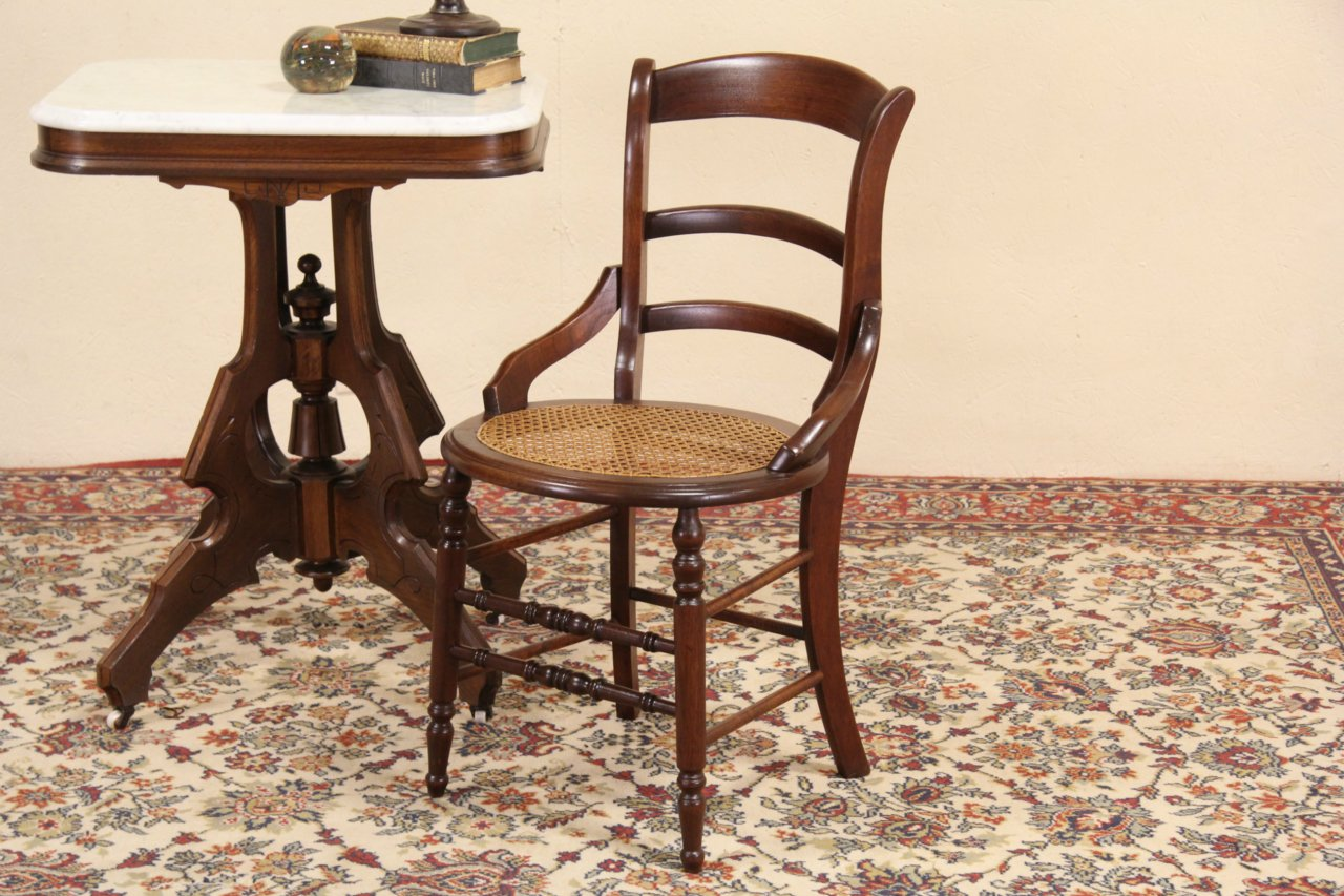 Victorian Maple 1880 Side Or Dining Chair, New Cane Seat