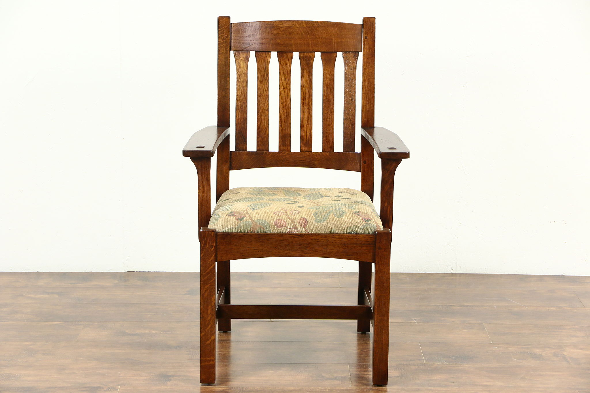 SOLD Craftsman Mission Oak Arts & Crafts Vintage Chair Signed
