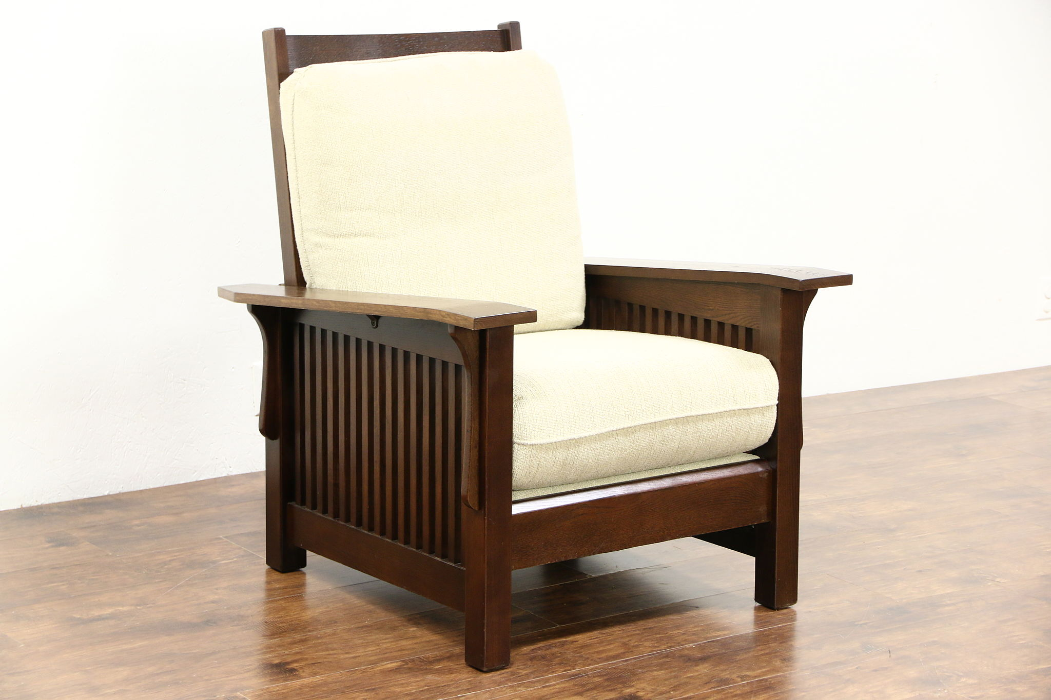 Arts u0026 Crafts Mission Oak Vintage Morris Craftsman Recliner Chair ... : craftsman style recliner - islam-shia.org