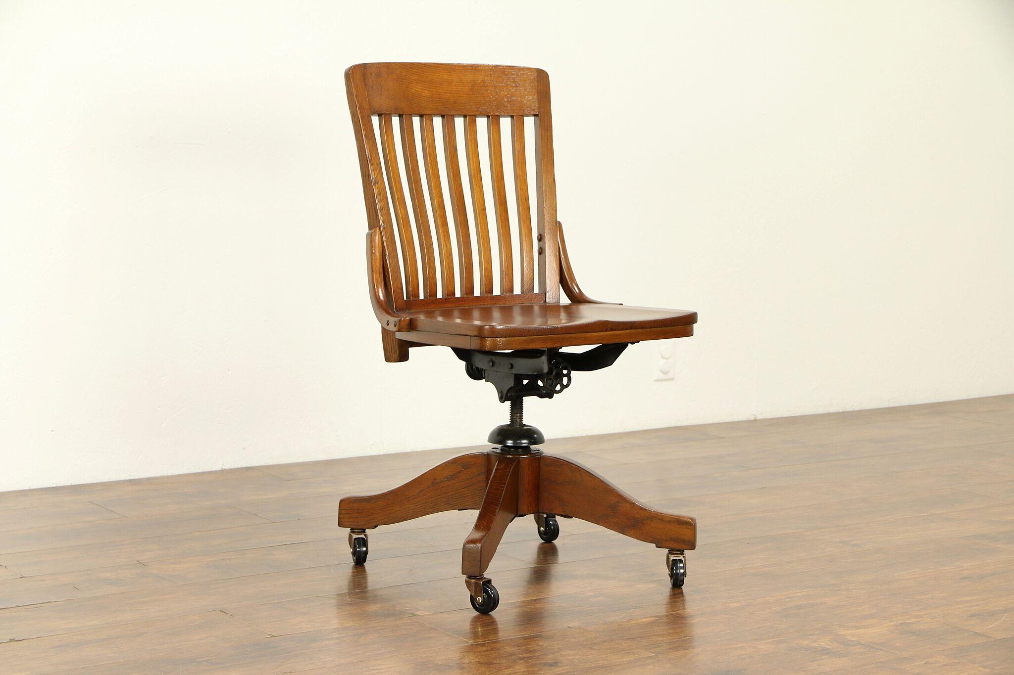 Phenomenal Oak Quarter Sawn Antique Swivel Adjustable Desk Chair 32065 Forskolin Free Trial Chair Design Images Forskolin Free Trialorg