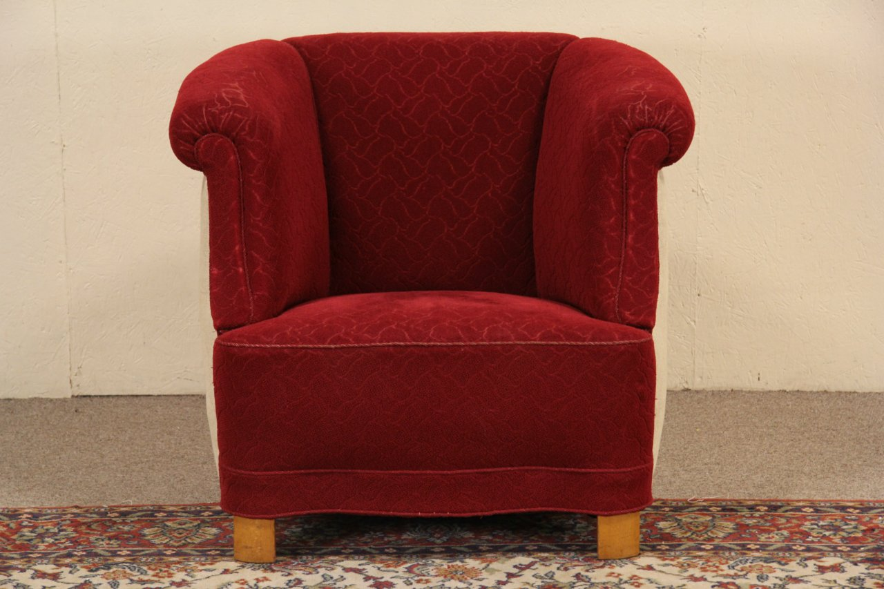 Art Deco Original 1940u0027s Vintage Scandinavian Club Chair ...
