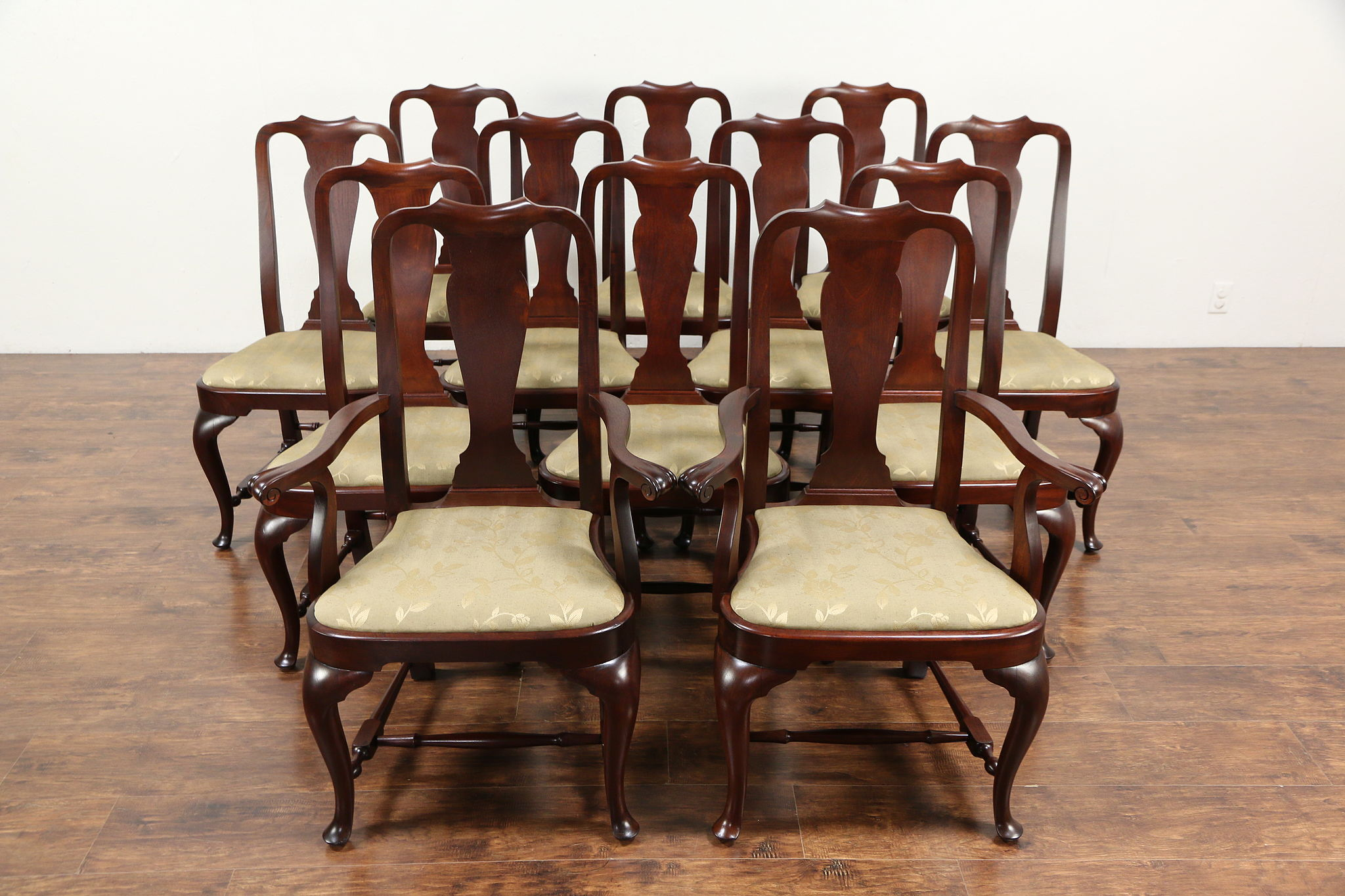 SOLD - Set of 12 Traditional Georgian Design Mahogany Dining Chairs ...