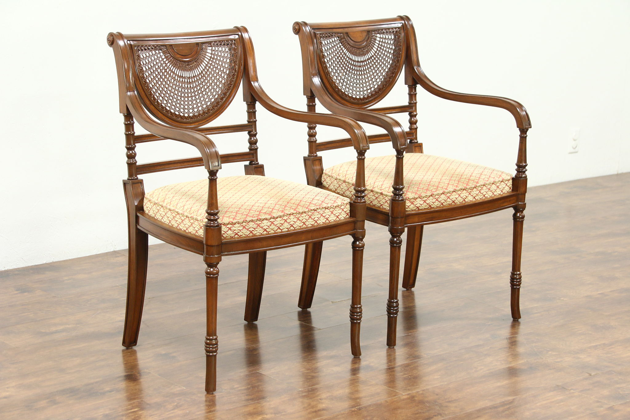 Pair Of Regency Style Vintage Carved Mahogany Chairs Regency Style Furniture S50