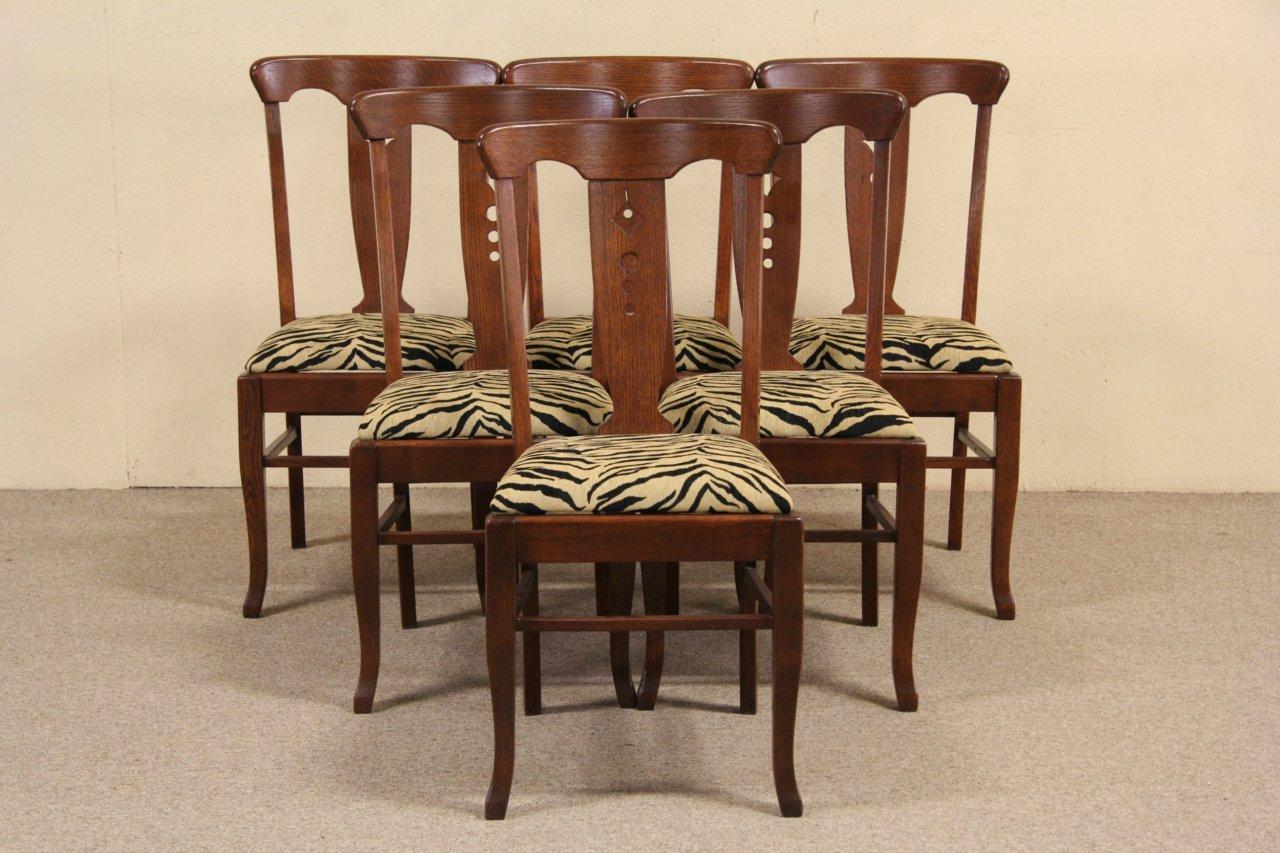 SOLD - Set of 6 Arts & Crafts Mission Oak Antique 1905 Dining ...