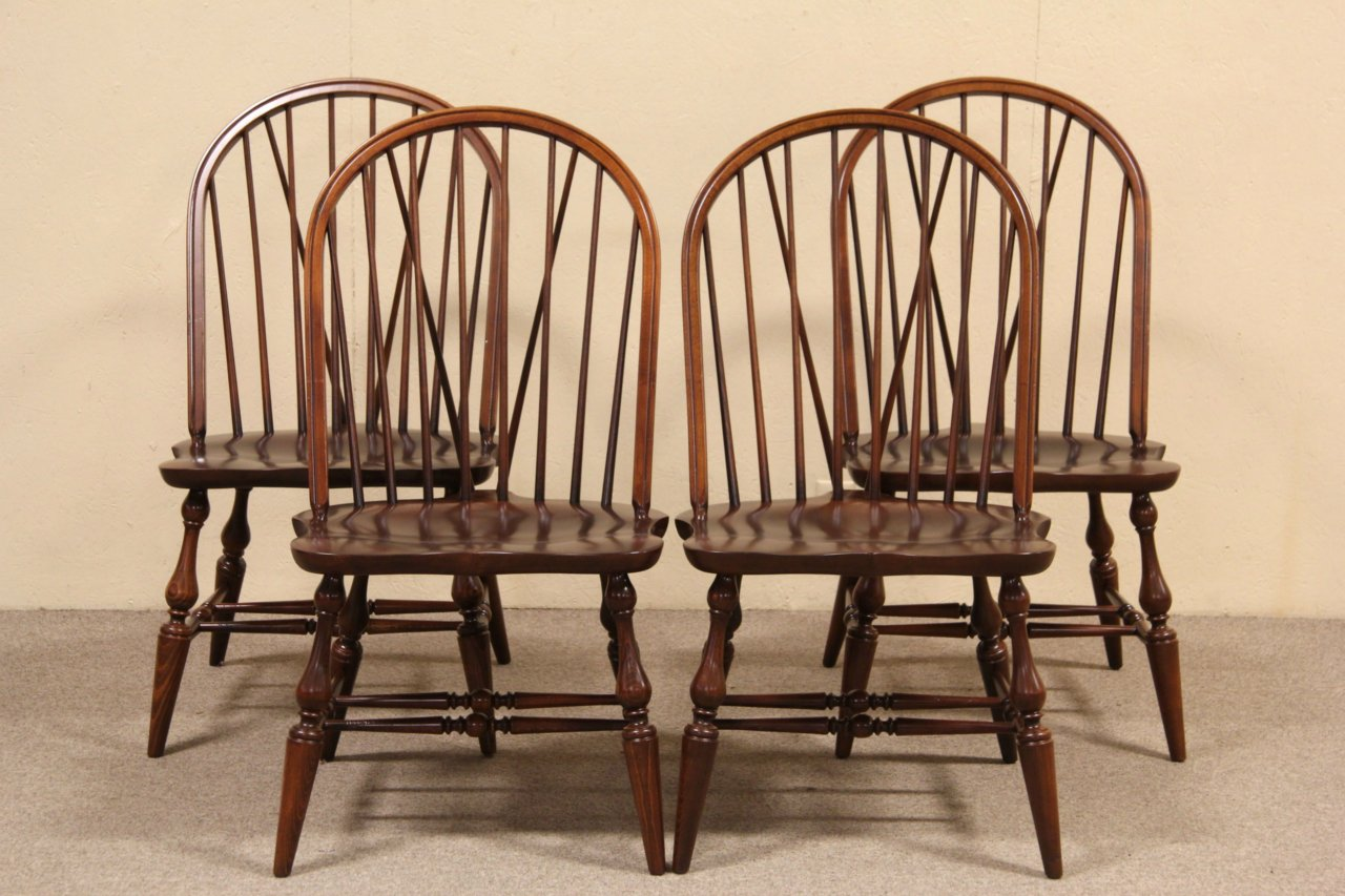 Set of 4 Pennsylvania House Windsor Dining or Game Table Chairs  sc 1 st  Harp Gallery Antique Furniture & SOLD - Set of 4 Pennsylvania House Windsor Dining or Game Table ...