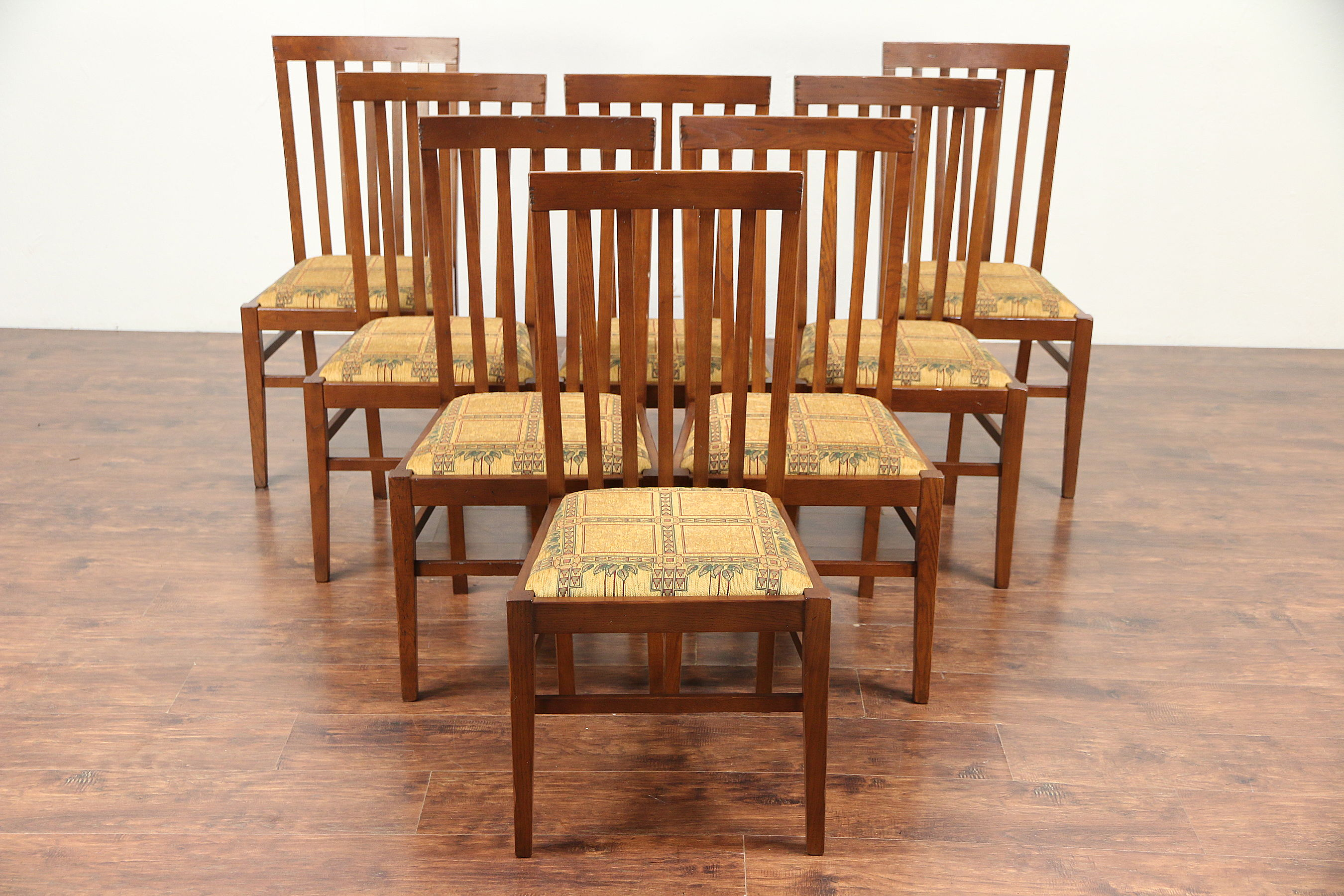 SOLD - Set of 8 Oak Craftsman or Prairie Style Dining ...