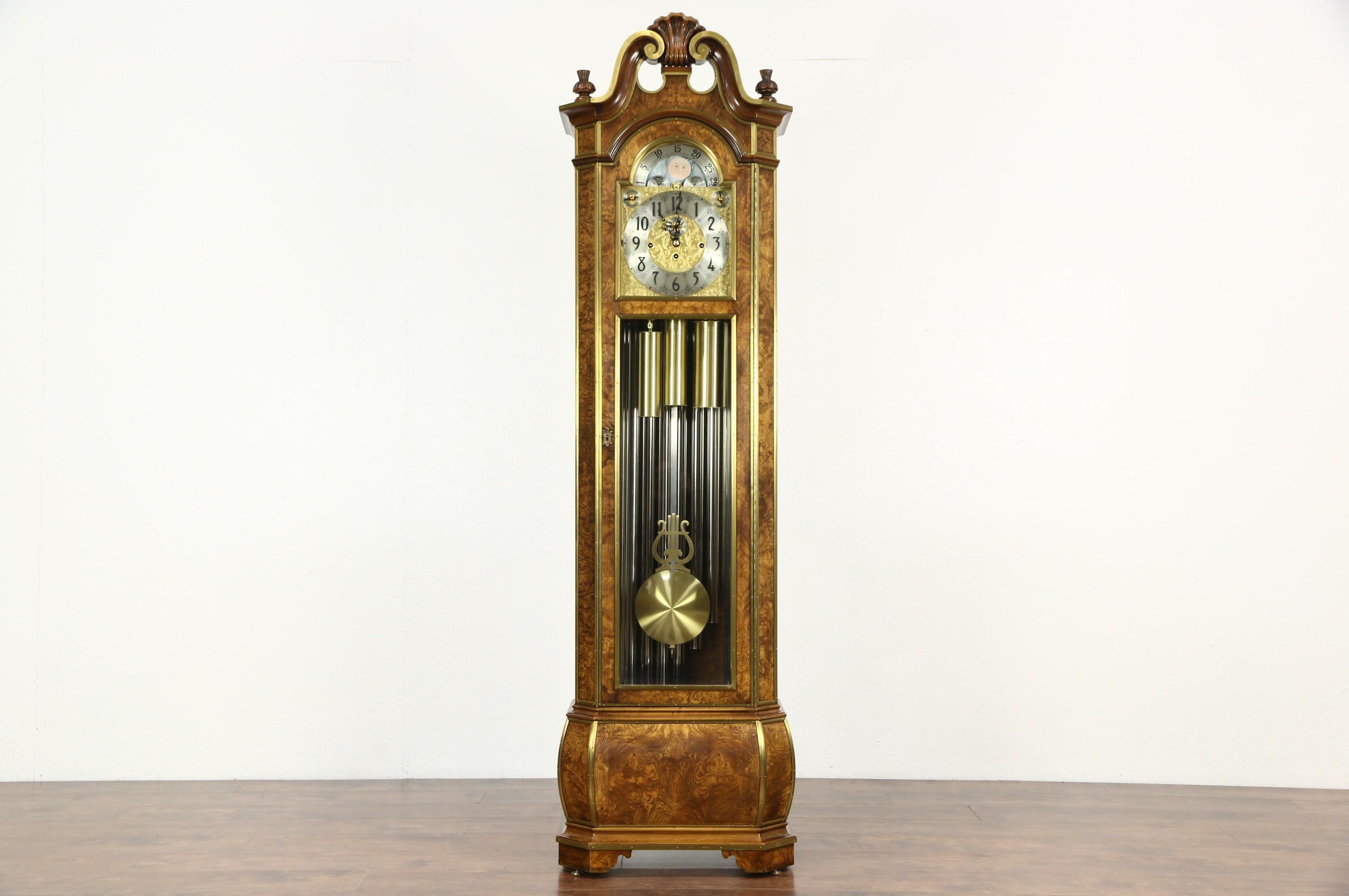 Sold Herschede Signed 9 Tube Vintage Grandfather Clock