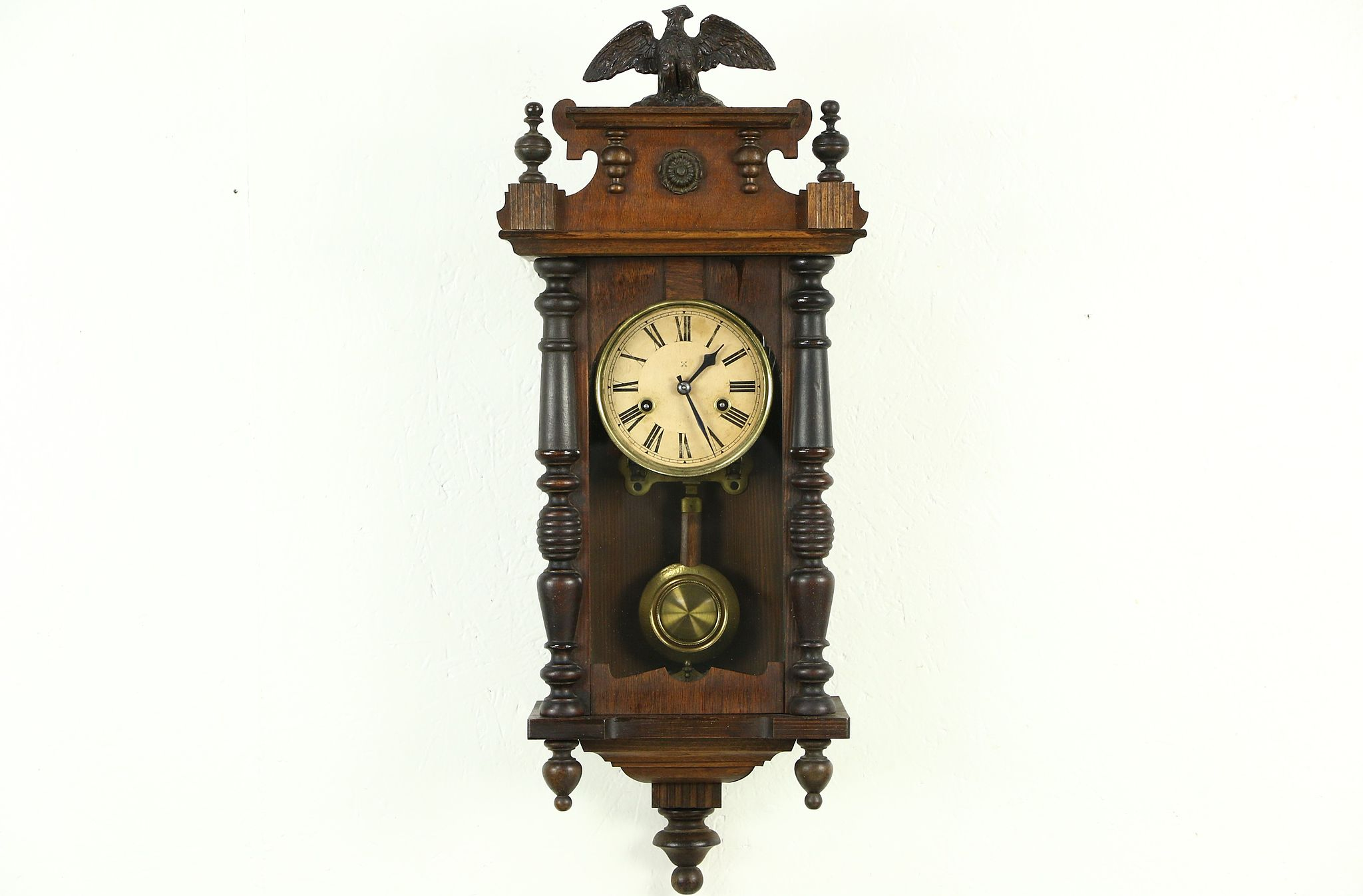 Sold junghans victorian antique s carved wall clock