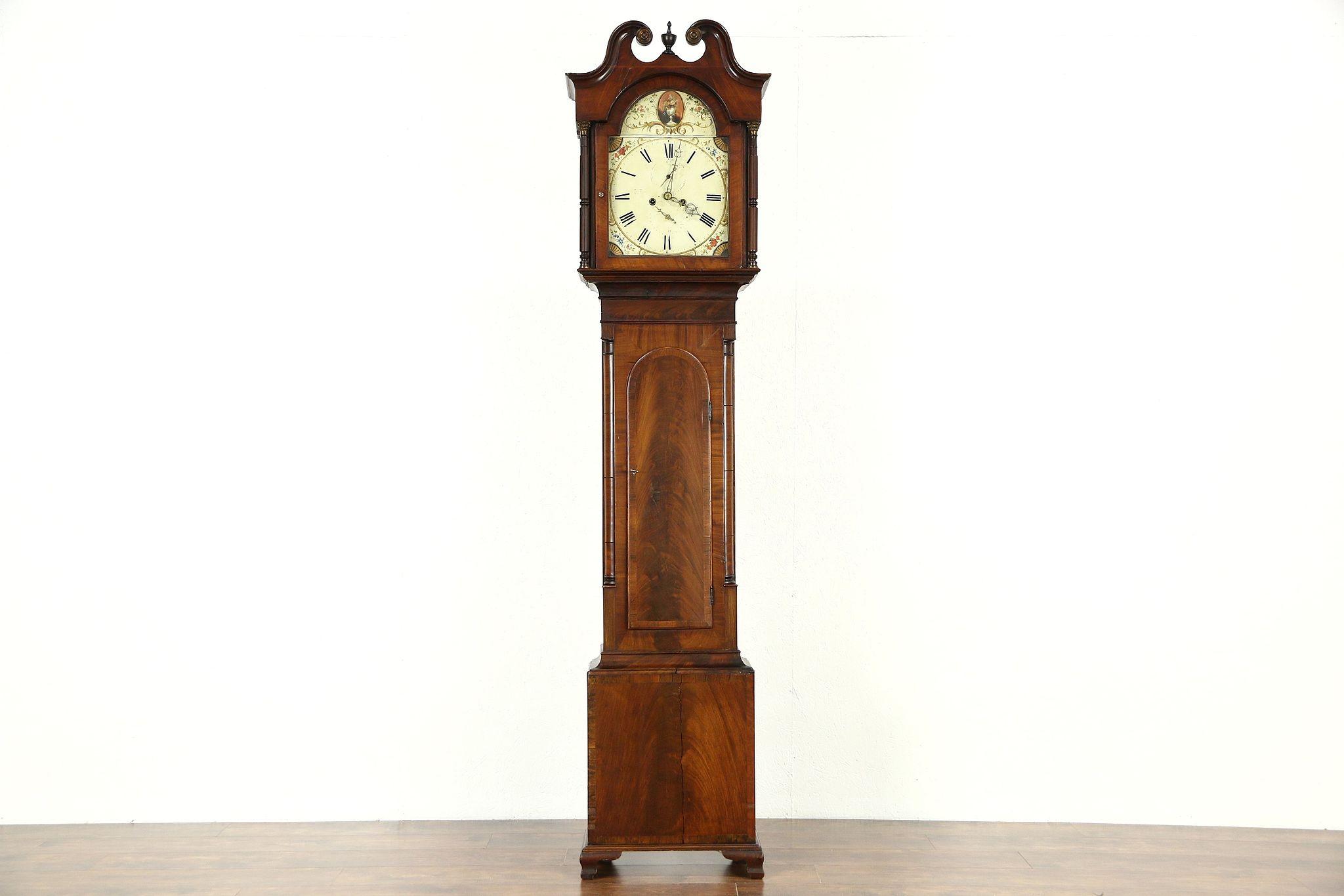 Scottish Georgian 1825 Antique Tall Case Grandfather Clock  Picken of  Edinburgh. Scottish Georgian 1825 Antique Tall Case Grandfather Clock  Picken