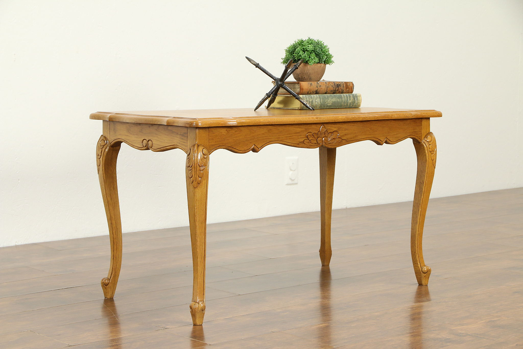 Oak Carved Vintage Farmhouse Country French Coffee Table 32735 Harp Gallery Antiques Furniture