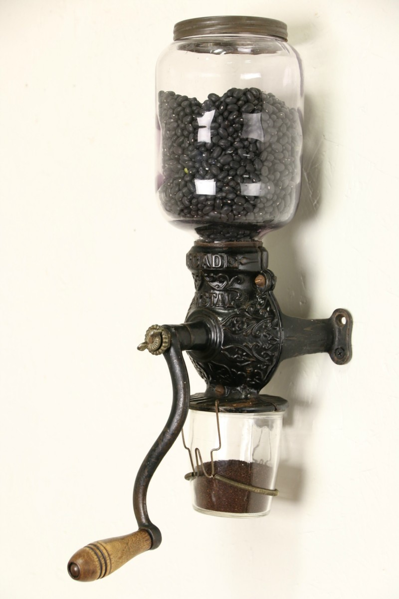 Sold Arcade Crystal 1890 S Antique Wall Coffee Grinder