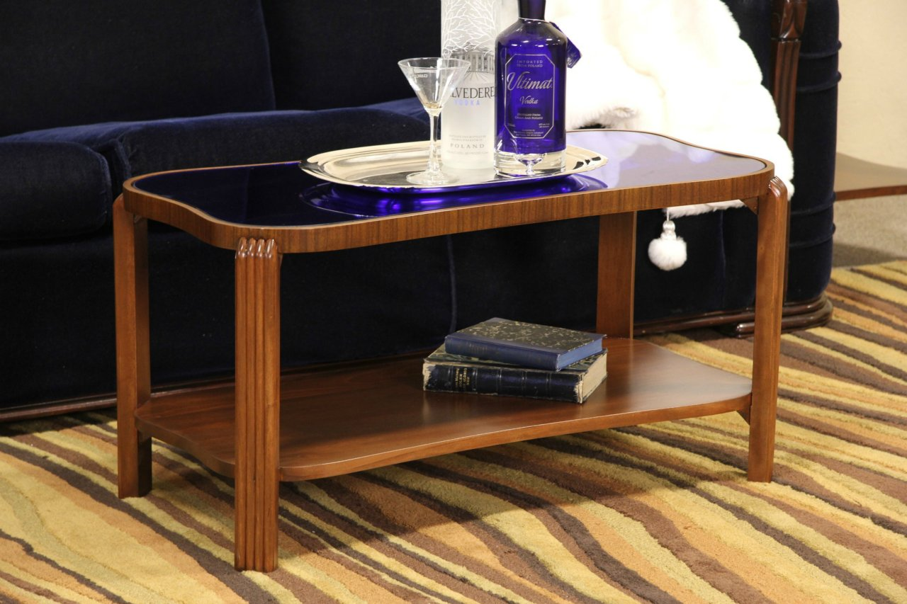Antique Blue Mirror Coffee Table Designs