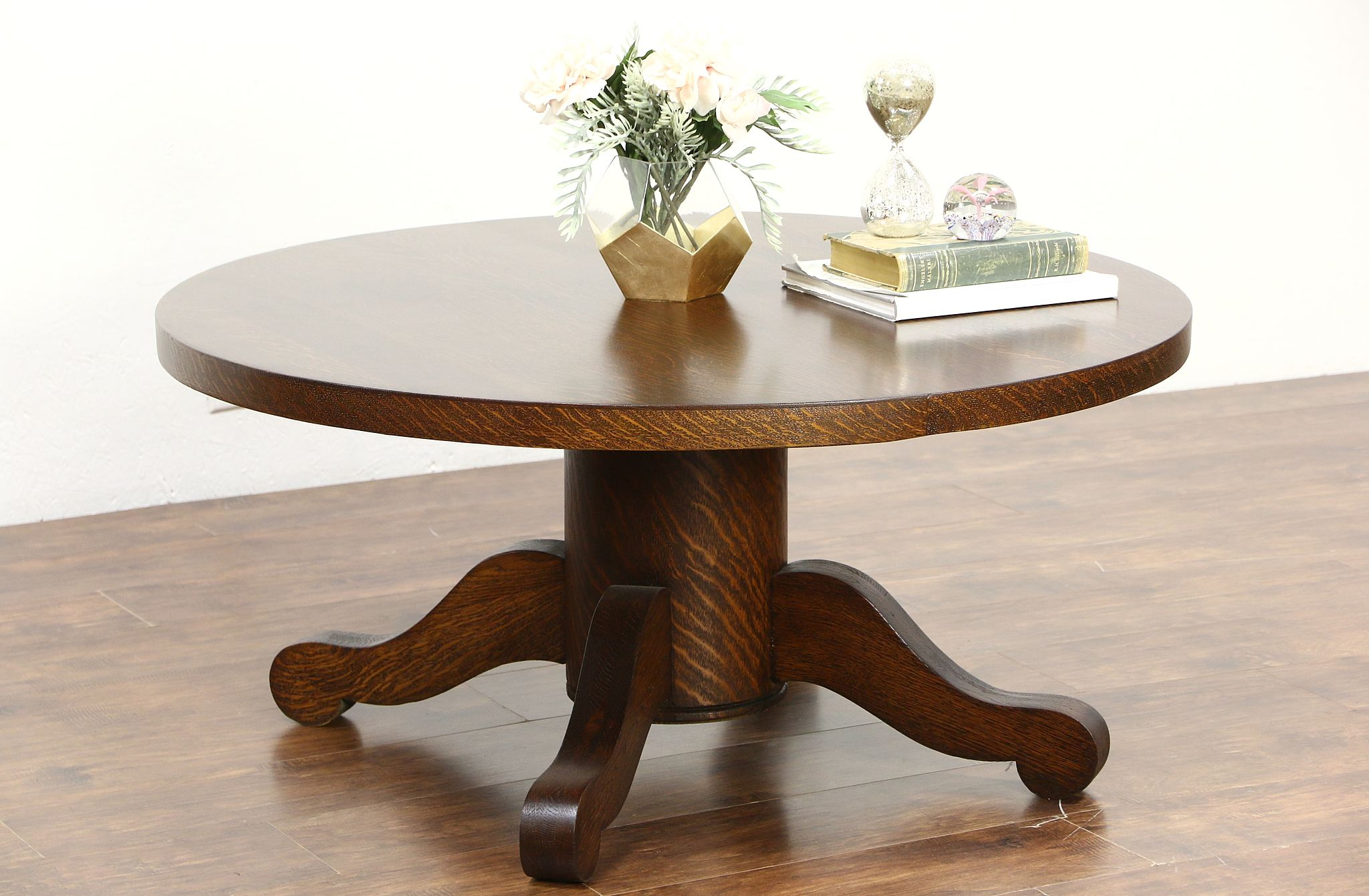 Sold Oak Quarter Sawn Coffee Table From 1900 Antique Dining