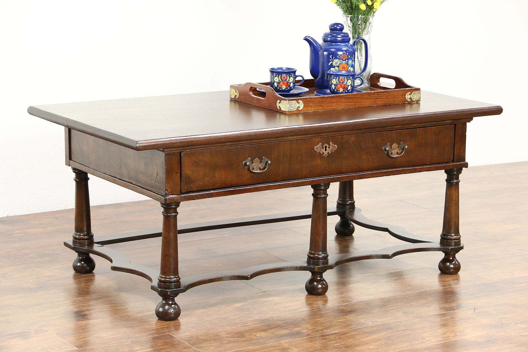 SOLD Coffee Cocktail or Low TV Console Table 1870 Antique from
