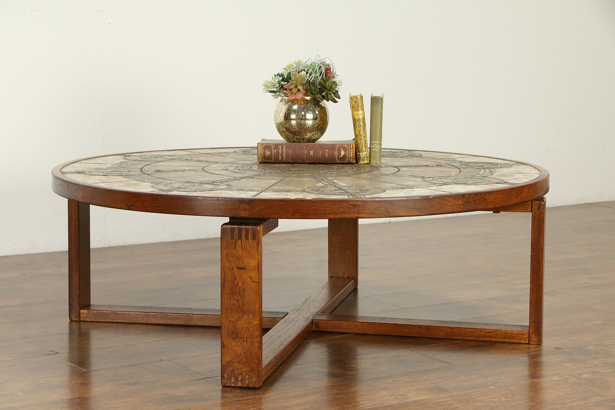Picture of: Sold Midcentury Modern Vintage Danish Teak Tile Coffee Table Signed 31873 Harp Gallery Antiques Furniture
