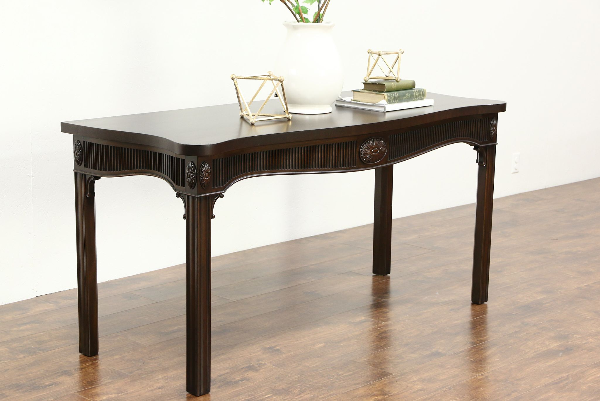 Kittinger Signed Vintage Mahogany Hall Console Table or Server