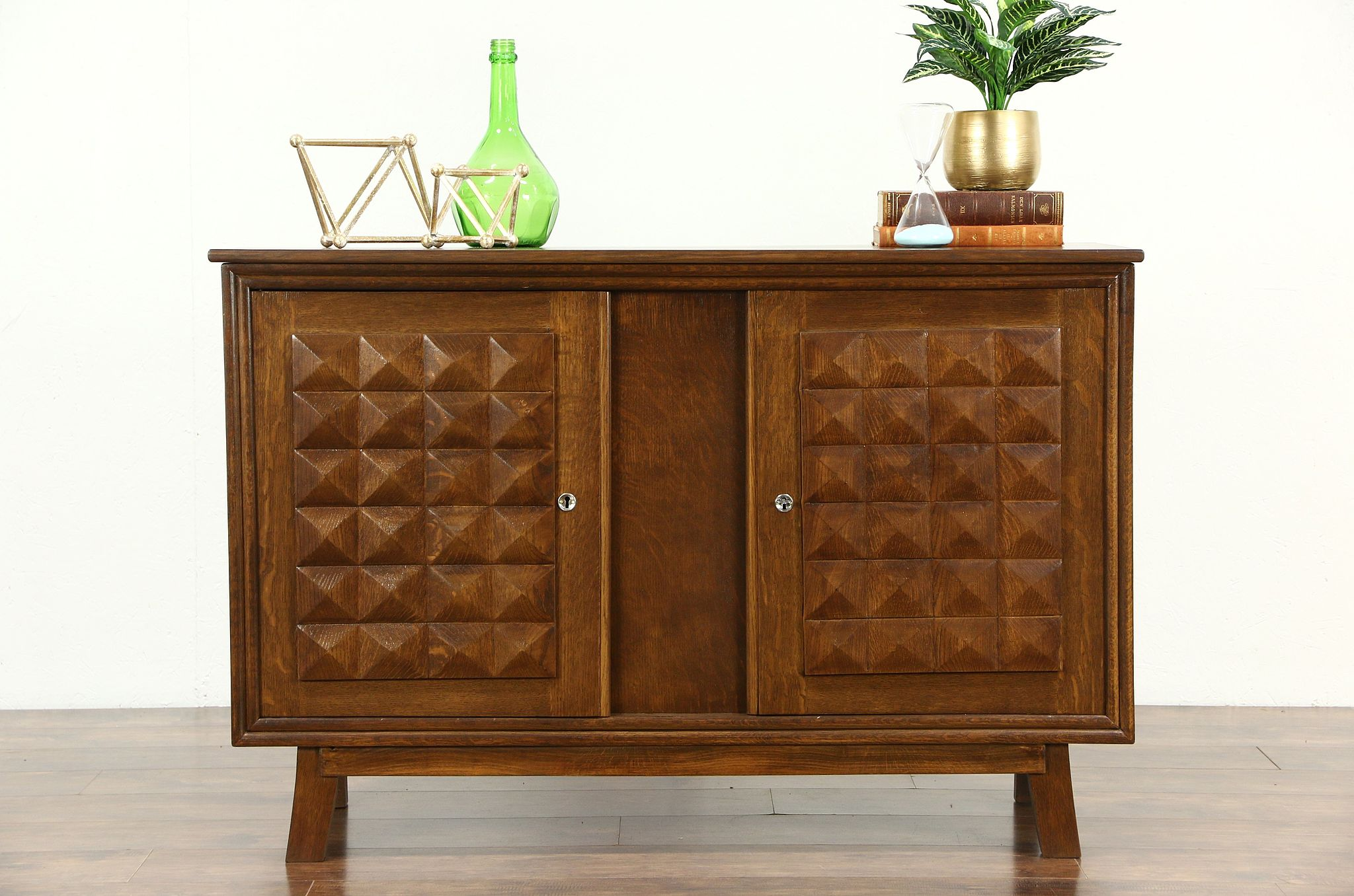 Hall Console Cabinet sold - midcentury modern scandinavian oak vintage sideboard, hall