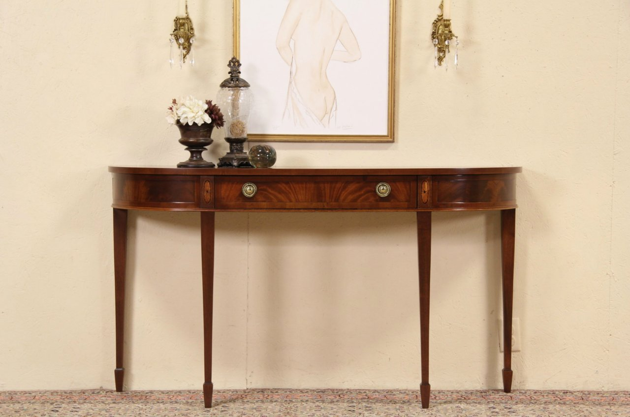 Hekman Vintage Hall Console Or Sideboard Banded Gany