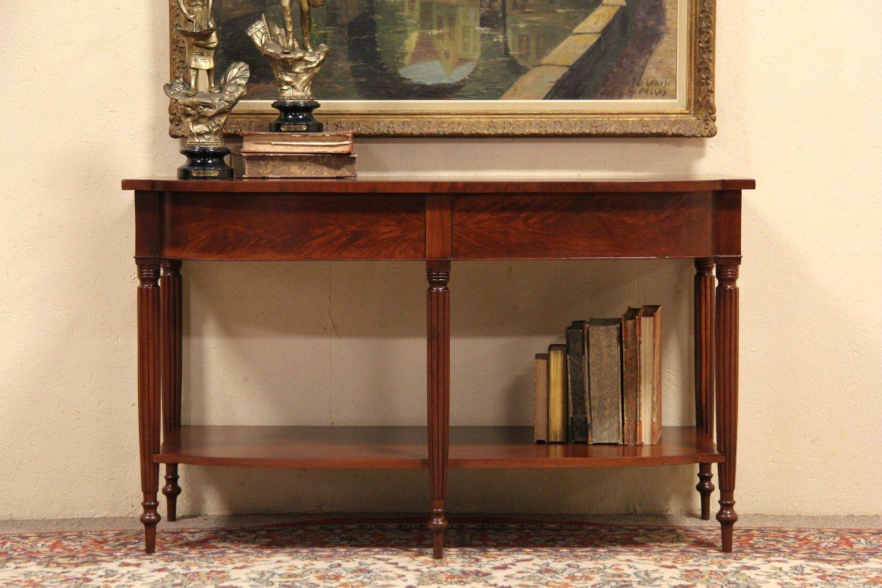 antique console table. Sheraton 1825 Antique Console Table, Wide TV Table